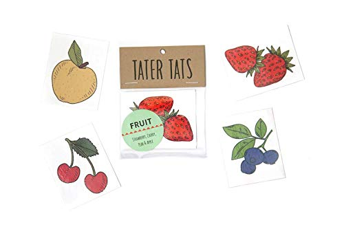 Tattoo Cherry (Tater Tats Fruit Pack: Four Temporary Fruit Tattoos)