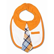"""Itty Bitty & Handsome 38071 Pavilion Gift Company Baby Bib, Orange Soda, 6"""""""