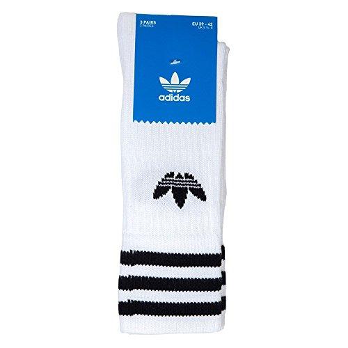 Men Solid 3 Socks Adidas White Pack Crew 0zSxqT
