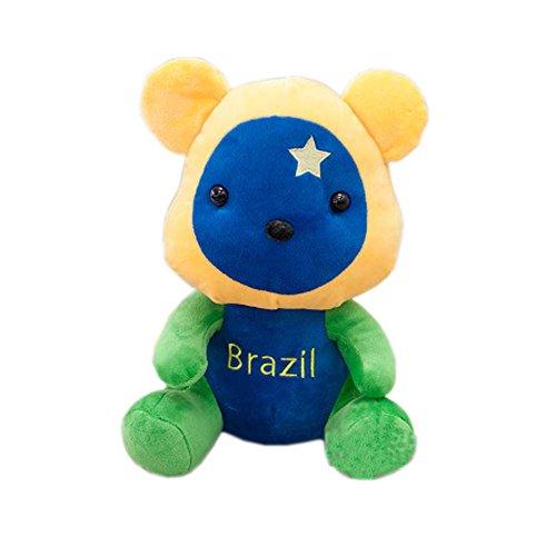 2016 Rio de Janeiro Olympic Mascot Flags Plush Toy Bear Souvenir, Brazil