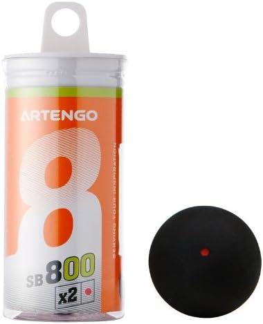 Artengo SB 710 - Pelota de squash (negra con punto rojo): Amazon ...
