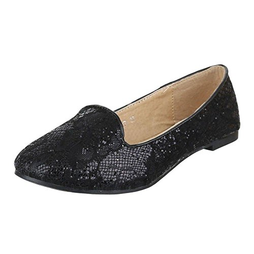 Juliet Damen+Ballerinas+-+Black