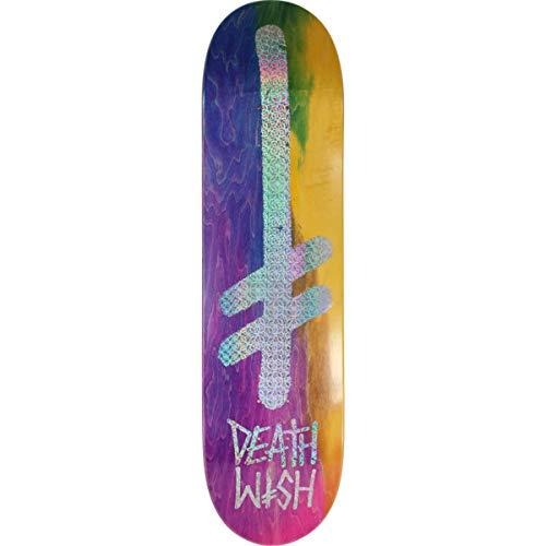 Deathwish Gang Logo Holo Rainbow Skateboard Deck - 8.00