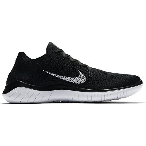 Free Nike da Running 2018 Run Flyknit Uomo Laufschuh Black Scarpe White rrwZ5