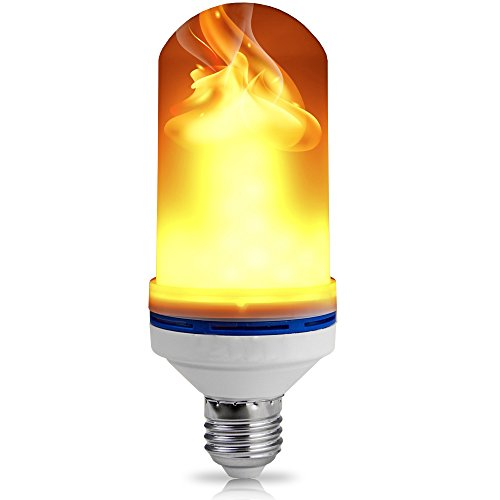 LED Flame Effect Light Bulbs By Sahara Bulbs: Fire Flickering Lamp Light For Warm And Romantic Atmosphere, Valentine Decoration, For Home, Garden, Bars - Eco-Friendly And Power Saving. E26 / E27 (Sahara Mini Set)