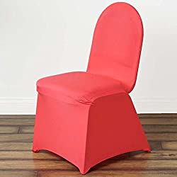 Efavormart 50pcs Coral Stretchy Spandex Fitted Banquet Chair Cover Dinning Event Slipcover for Wedding Party Banquet Catering