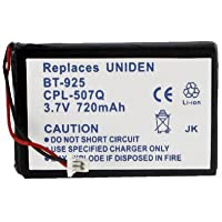 Uniden BT925 Cordless Phone Battery Li-Ion, 3.6 Volt, 720 mAh - Ultra Hi-Capacity - Replacement for Uniden BT-925 Rechargeable Battery