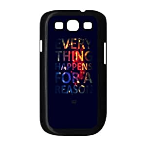 Samsung Galaxy S3 9300 Cell Phone Case Black Everything Happens For A Reason F1E3DC