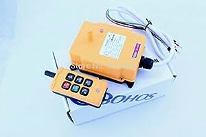 ARBUYSHOP 1pcs HS-6 AC / DC12V 6 canales de control remoto de la grúa del alzamiento de radio control remoto de control sysem Industrial envío gratuito