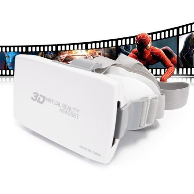 Arts Head Mount Plastic VR 3D Video Glasses