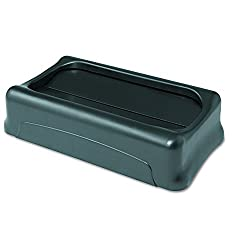 Rubbermaid Commercial Slim Jim Swing Lid , Black (Ffg267360bla)