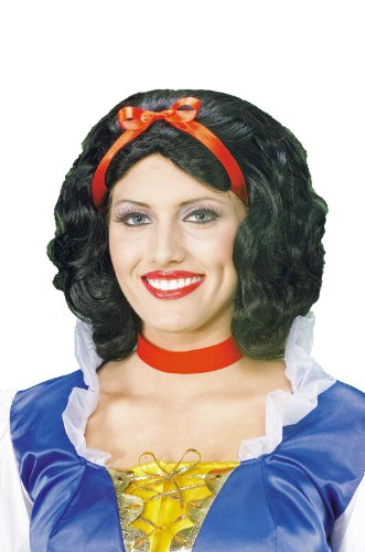 Plus Costume White Snow (Forum Snow White Wig, Black, One)