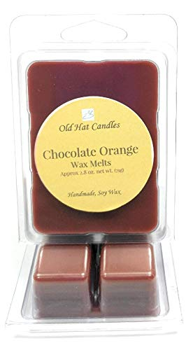 Chocolate Orange Scented Wax Melts. Soy Wax Cubes for Warmers