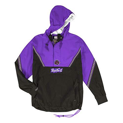 Mitchell & Ness Toronto Raptors NBA Mens Patterned Anorak Half Zip Jacket (Medium) ()