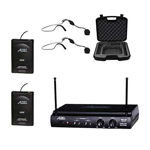 Audio 2000s UHF Wireless Microphone with 2 Headset Microphones