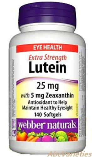 Webber Naturals lutéine 25 mg avec zéaxanthine 5 mg pour oeil santé 140 gélules