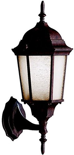 (Kichler 9653TZ, Madison Cast Aluminum Outdoor Wall Sconce Lighting, 100 Total Watts, Tannery)