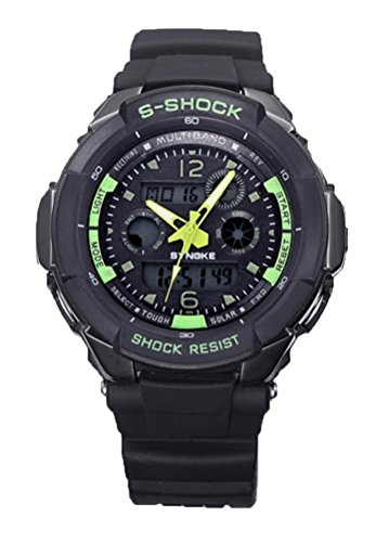S-Shock Analog and Digital Dual Display Outdoor Swimming Sports LED Watches for Students by Dreamy-SYNOKE