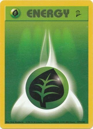 Pokemon - Grass Energy (127) - Base Set 2