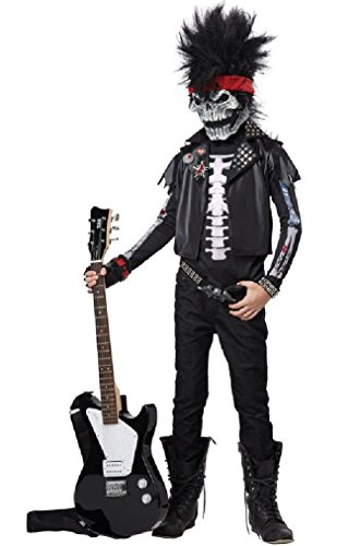 [Fancy Dead Man Rockin Rock Star Heavy Metal Child Costume] (Halloween Little Dead Riding Hood Costume)