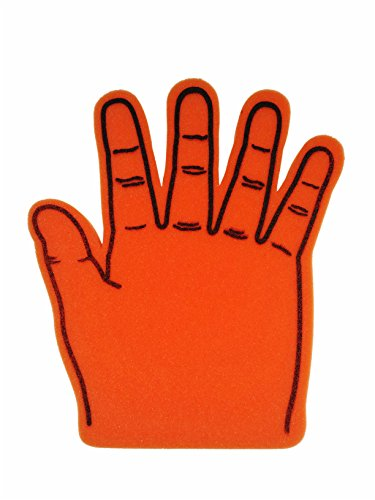Giant Foam Hand, Orange (Get 2)