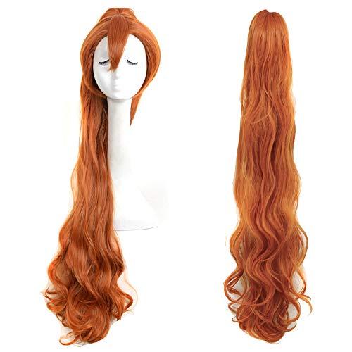 Yuehong Brown Long Fashion Natural Braided Wig Thumbelina Wig Full Curly Wig Cosplay Wigs Party Wig -
