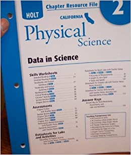 Holt Science & Technology California: Chapter Resource File Chapter 2 Grade 8 Physical Science