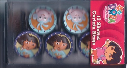 Franco Manufacturing Nickelodeon Dora the Explorer Shower Curtain Hooks by Franco