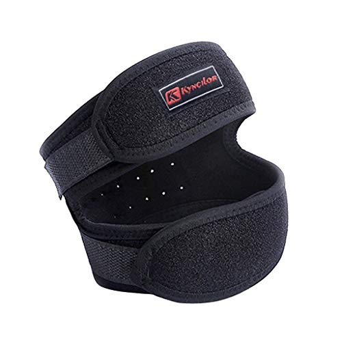 - Dual Action Knee Strap - Patella Knee Strap for Running,Knee Stabilizing Brace Support for Tendonitis,Osgood schlatter,Arthritis, Meniscus, Tear,Runners,Chondromalacia,Injury Recovery,Sports(Black)