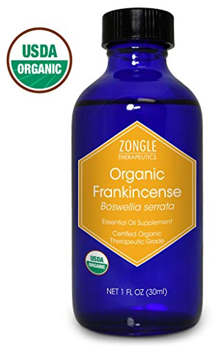 Zongle USDA Certified Organic Frankincense Essential Oil, Safe To Ingest, Boswellia Serrata, 1 OZ (Top 10 Organic Cosmetic Brands In India)
