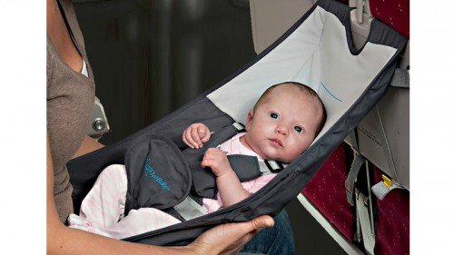 Image: Infant Airplane Seat - Flyebaby Airplane Baby Comfort System - Air Travel with Baby Made Easy