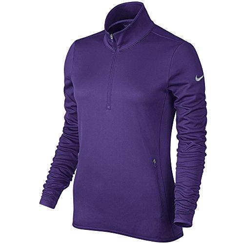 Nike Thermal 1/2 Zip - Camiseta de manga larga para mujer Court Purple