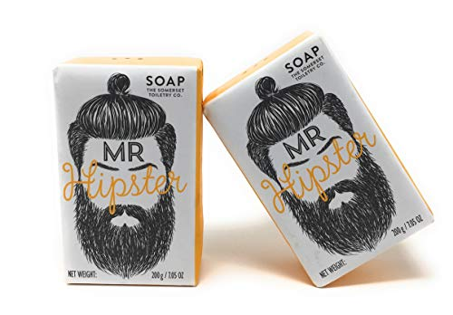 Somerset Toiletry - Mr. Hipster, Black Pepper and Ginger Soap - Orange - NET WT 200g, Orange - 2 Pack