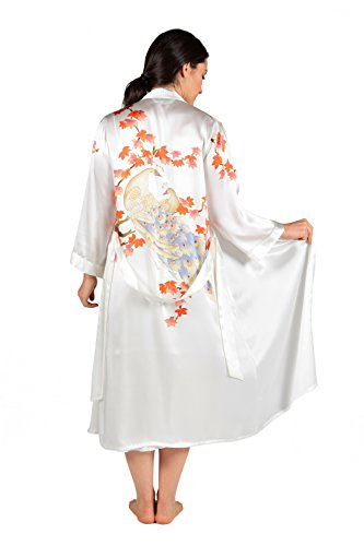 TexereSilk Women's Silk Nightgown Robe Set (Natural White, X-Small) Popular Gifts for Women WS0601-NWH-XS by TexereSilk (Image #6)