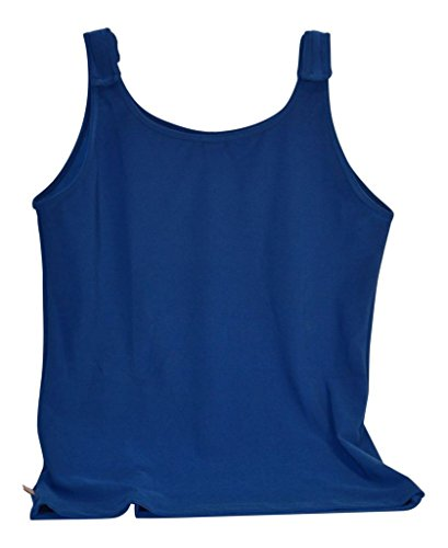 (Tender Tanks Breast Cancer Adjustable Tank Top by, Small, Limoges Blue )