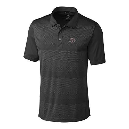 (Cutter & Buck NCAA Texas A&M Aggies Short Sleeve Crescent Print Polo, Medium, Black)