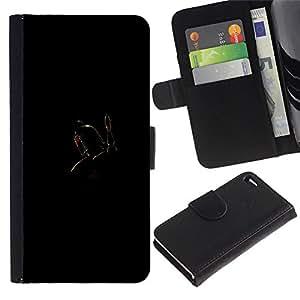 KLONGSHOP // Tirón de la caja Cartera de cuero con ranuras para tarjetas - Bobba Fett - Apple Iphone 4 / 4S //