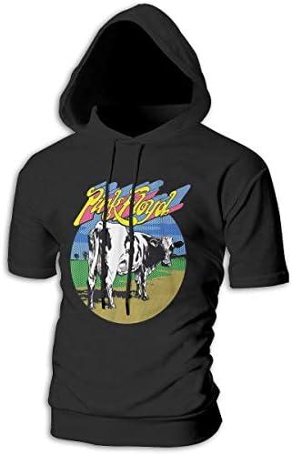 Tシャツ シャツ ティーシャツ スウェットシャツ パーカー ストレッチ メンズ 半袖 フード付き ピンク フロイド スポーツtシャツ 吸汗速乾 トレーニング ジムtシャツ 通気性 黒