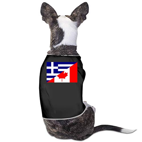 LNUO-2 Pet Clothes, Flag of Greece and Canada Dog Cat Shirts Apparel]()
