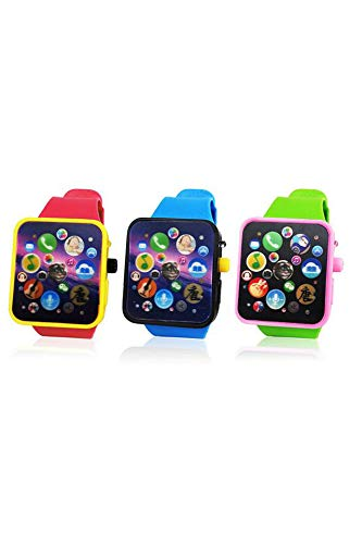 Museum Cluster (Children's Educational Toys Creative Girl Infant Intelligent Touch-Screen Watch Lights Early Childhood Music Repeat Living Museum (Blue)