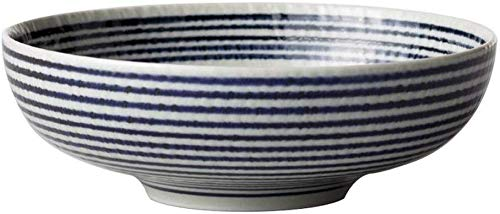 ZHA JIAN Ceramic Bowl Japanese-Style Hand-Painted Striped Ceramic Ramen Bowl underglaze Color Bowl Home Soup Bowl Noodle Bowl - 3 Sizes (Color : 13 4.3cm) (Color : 134.3cm)