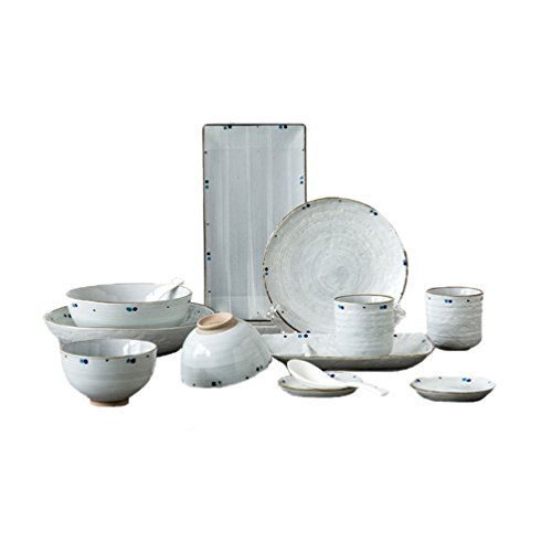 Dinnerware Set Porcelain 13-Piece for 2 Japanese Handmade Ceramic (you love) by Onlycook