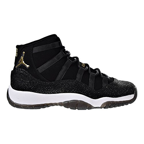 Jordan Air 11 Retro Premium HC Big Kids' Basketball Shoes Black/Gold-White 852625-030 (10 M US) by Jordan