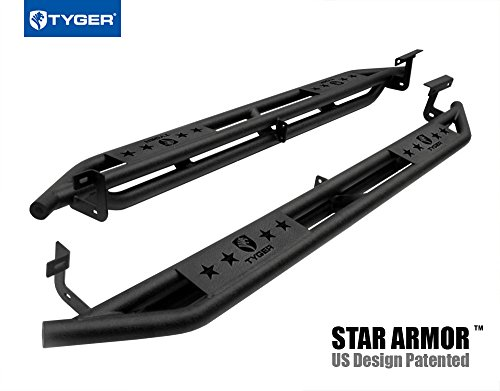 (Tyger Auto TG-AM2D20088 Star Armor Kit for 2002-2009 Ram Quad Cab | Textured Black | Side Step | Nerf Bars | Running Boards)