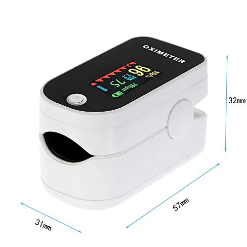 IHHI SP02 Finger Őximeter Pulse Rate Blood Őxygen Data Measurement OLED Display White