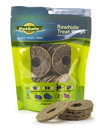 PetSafe Rawhide Treat Ring Refills, Original Rawhide, Replacement Treats for PetSafe Busy Buddy Treat Ring Holding Toys