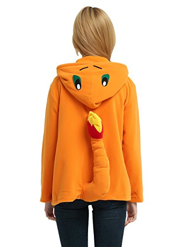 Es Unico Pokemon Charmander Hoodie Jacket for Women, Men and Teenagers(Small) by Es Unico (Image #2)