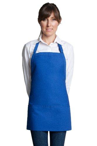 sic Look Bib Apron with 3 pockets Poly Cotton - Royal Blue   24