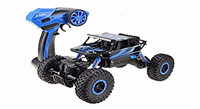 RC car,DeXop 2.4HZ Electric Rock Crawler Radio Control Cars Off Road high speed Racing Remote Control Cars-blue