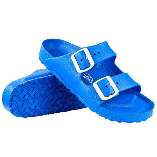 AEROTHOTIC - Water Friendly Light Weight EVA Sandals and Flip Flops for Women - One Piece Technology (US-Women-11, IRIS Blue)